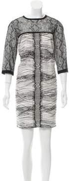 Andrew Gn Two-Tone Mini Dress