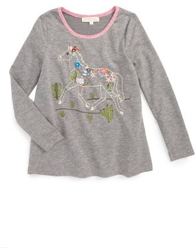 Truly Me Toddler Girl's Embroidered Horse Tee