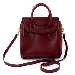 Alexander McQueen Heroine Burgundy Leather Handbag