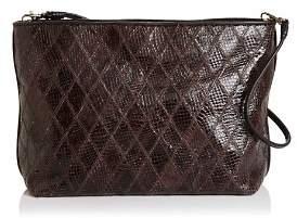 Elizabeth and James Large Patchwork Leather Pouch Shoulder Bag