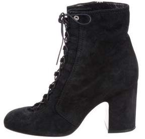 Laurence Dacade Lace-Up Suede Ankle Boots