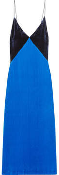 Dion Lee Velvet Slip Dress - Bright blue