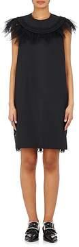 Kolor WOMEN'S WOOL-BLEND & LACE SLEEVELESS SHIFT DRESS