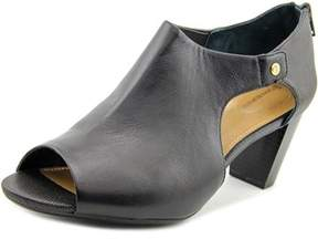 Giani Bernini Menaa Women Open Toe Synthetic Black Sandals.