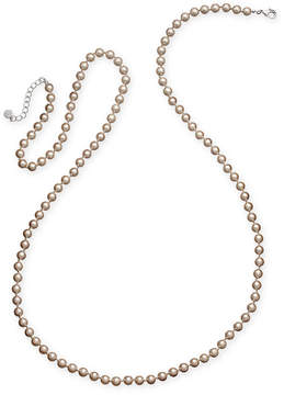 Charter Club Silver-Tone Imitation Pearl Long Statement Necklace, Created for Macy's