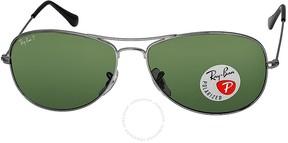 Ray-Ban Cockpit Gunmetal Green Polarized 59mm Sunglasses