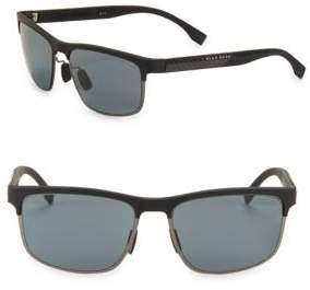 HUGO 58MM Square Sunglasses