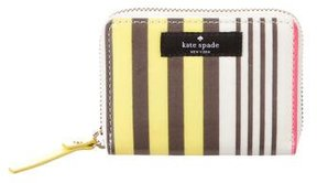 Kate Spade Leather Compact Wallet - PATTERN PRINTS - STYLE