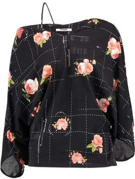 Chalayan Floral-Print Stretch Cotton-Felt Top