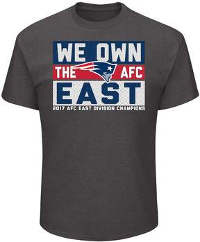 Majestic Men's New EnglandPatriots 2017 AFC East Division Champions Line of Scrimmage Tee