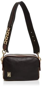 Marc Jacobs The Squeeze Leather Shoulder Bag - BLACK MULTI//GOLD - STYLE