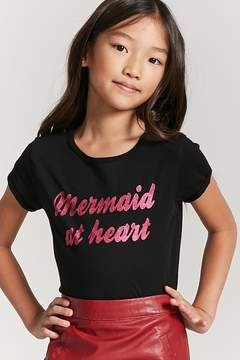 Forever 21 Girls Mermaid Knit Tee