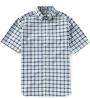 Daniel Cremieux Signature Tattersall Plaid Short-Sleeve Woven Shirt