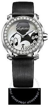 Chopard Happy Sport Happy Mickey Mouse Diamond Steel Ladies Watch