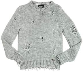 Fred Mello Destroyed Tricot Wool Blend Sweater