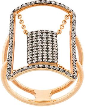 Diane Kordas crystal embellished ring