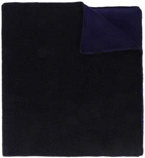 The Elder Statesman Black two tone oversized cashmere scarf