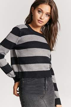 Forever 21 Striped Purl Knit Sweater