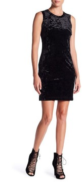 Fifteen-Twenty Fifteen Twenty Leather Contrast Velvet Shift Dress