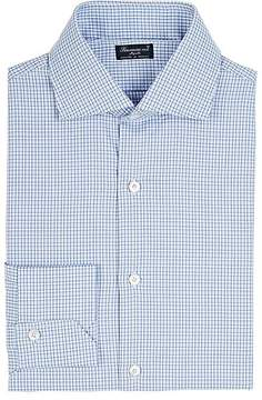 Finamore Men's Checked Cotton Poplin Shirt