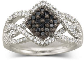 Black Diamond FINE JEWELRY Sterling Silver Color-Enhanced Ring