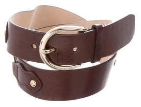 MICHAEL Michael Kors Leather Chain-Link Belt