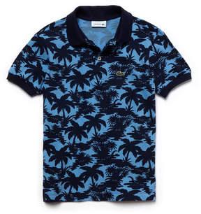 Lacoste Boy's Classic Fit Wave Print Petit Piqu Polo Shirt