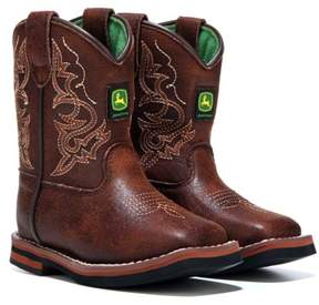 John Deere Kids' Everyday Broad Square Toe Cowboy Boot Toddler