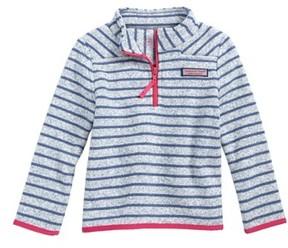 Vineyard Vines Toddler Girl's Shep Stripe Fleece Quarter Zip Pullover