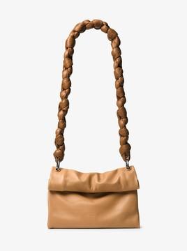Michael Kors Kiki Medium Leather Shoulder Bag - PEANUT - STYLE