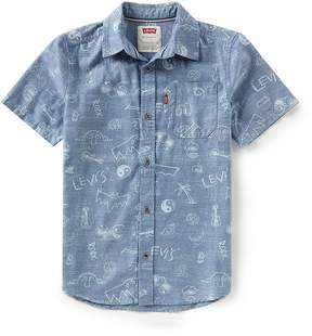 Levi's Big Boys 8-20 Smith Printed Woven Button-Down Shirt