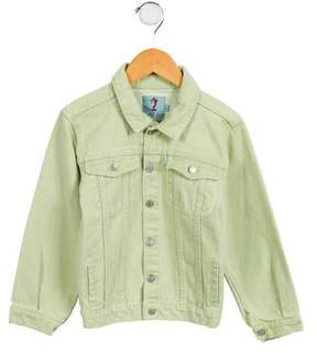 Papo d'Anjo Girls' Button-Up Denim Jacket