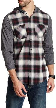 Burnside Hooded Plaid Shirt