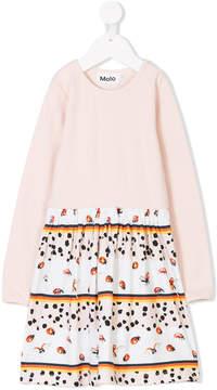 Molo ladybug-print dress