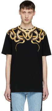 Marcelo Burlon County of Milan Black Snake T-Shirt