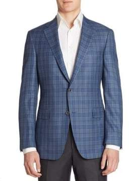 Saks Fifth Avenue COLLECTION BY SAMUELSOHN Classic-Fit Plaid Wool Sportcoat