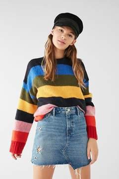 BDG Star Grommet Asymmetrical Denim Mini Skirt