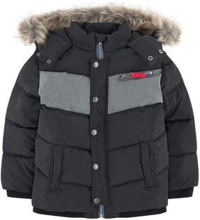 Jean Bourget Bi-colored padded coat