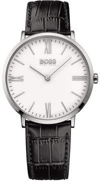 HUGO BOSS Jackson 1513370 White/Black Leather Analog Quartz Men's Watch