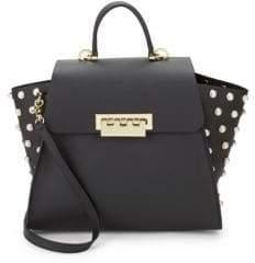 Zac Posen Eartha Faux Pearl Top Handle Bag