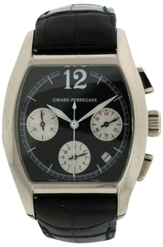 Girard Perregaux Richeville 18K White Gold & Leather 37mm Watch