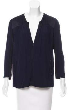 BA&SH V-Neck Short Sleeve Top