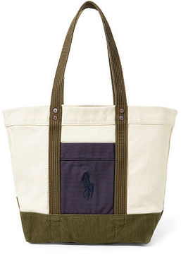 Polo Ralph Lauren Color-Blocked Big Pony Tote