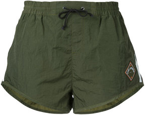 The Upside side stripe running shorts