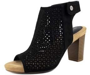 Giani Bernini Joisey Women Us 10 Black Wedge Sandal.