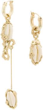 Ellery drop shell earrings