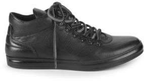 Kenneth Cole Brand Tour Leather Lace-Up Sneakers
