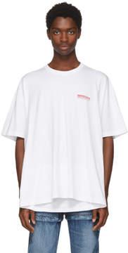 Balenciaga White Speedhunter Double Hem T-Shirt