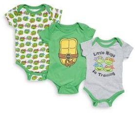 Nickelodeon Baby's Three-Piece Ninja Turtle Bodysuit Set