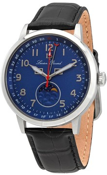 Lucien Piccard Blue Dial Men's Leather Watch